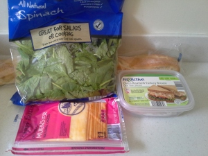 Baguette 1.49 9 oz spinach 1.79 sliced cheese 2.19 sliced turkey 2.49